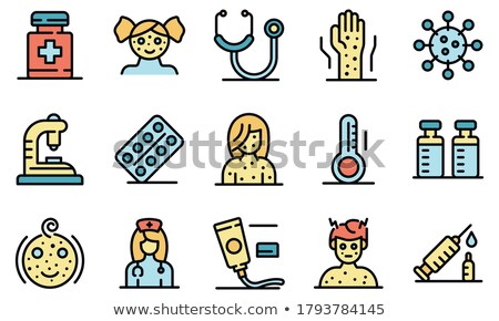 childhood vaccinations chicken pox icon set stock photo © redkoala