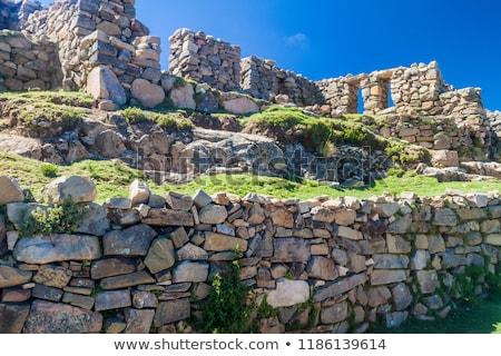 Inca ruínas Bolívia ver lago sol Foto stock © meinzahn