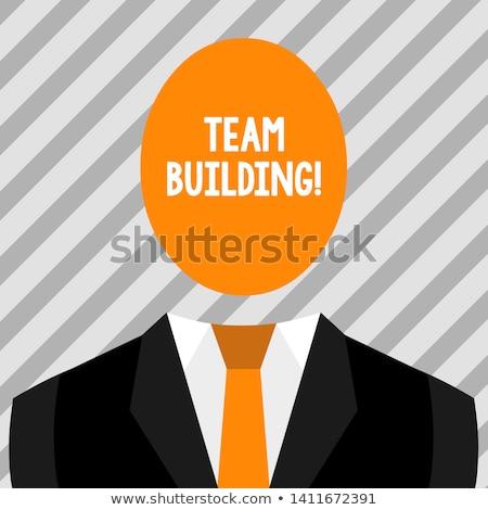 Simbólico foto relações equipe de negócios festa trabalhar Foto stock © konradbak
