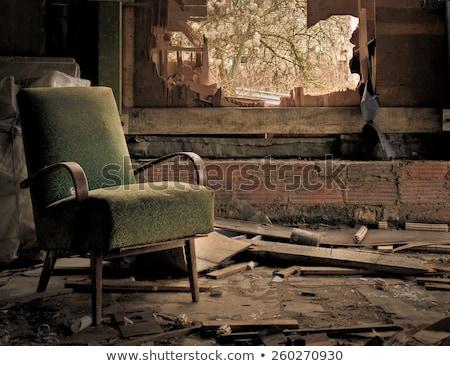 Arruinar cadeira velho executivo rodas concreto Foto stock © smuay