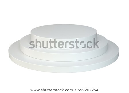 biały · kółko · wystawa · stoją · odizolowany · 3d - zdjęcia stock © cherezoff