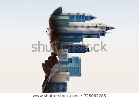 composite image of wear view of businessman thinking stock photo © wavebreak_media