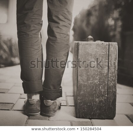 old wooden suitcase stock photo © oleksandro