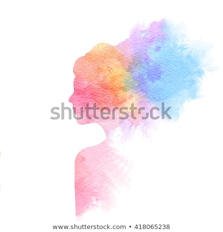 Woman's face. Digital watercolor painting.  Stock photo © amok