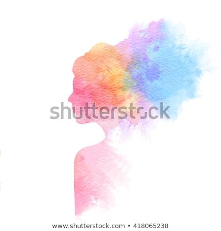 красивой · помада · аннотация · розовый · девушки - Сток-фото © amok