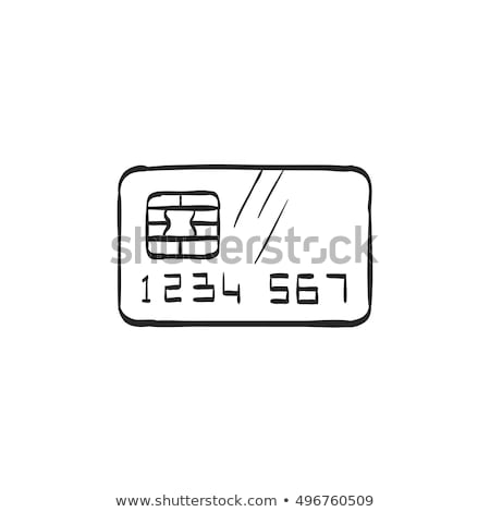 Rabisco cartão de crédito ícone símbolo círculo Foto stock © pakete