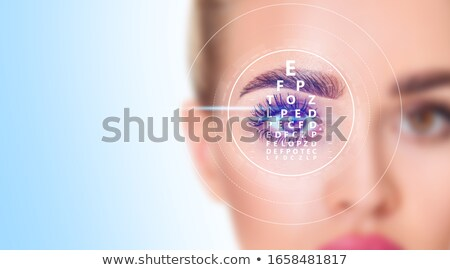 Lazer göz cerrahi örnek Stok fotoğraf © bluering