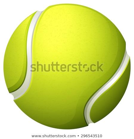 светло-зеленый теннисный мяч иллюстрация спорт фон спортивных Сток-фото © bluering