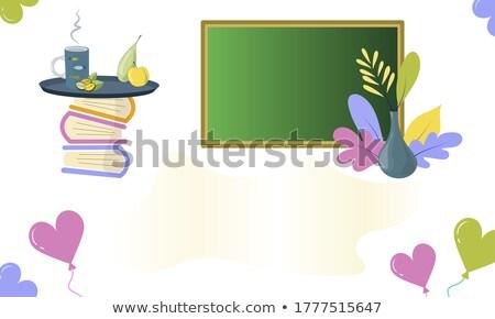 Freelance tekst school boord krijt business Stockfoto © fuzzbones0