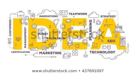 время · интеллект · бизнеса · маркетинга · планирования · Идея - Сток-фото © fuzzbones0