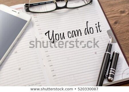 I can do it text on notepad and pencil Stock photo © fuzzbones0