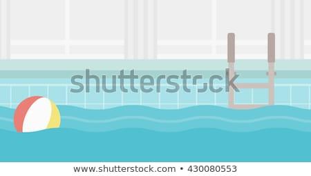 nino · agua · piscina · cute · nina · mujer - foto stock © robuart