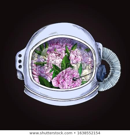 Kövér űrhajós illusztráció fehér háttér fiú Stock fotó © bluering
