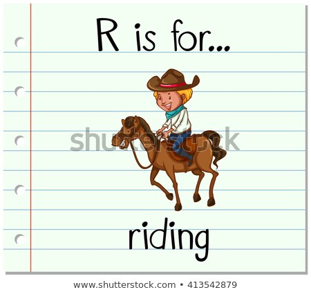 Flashcard letter R is for riding Stock photo © bluering