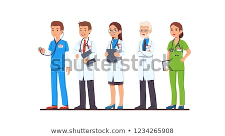 nurse with a stethoscope thinking Stock photo © gravityimaging