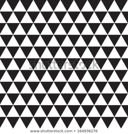 Vector naadloos zwart wit mozaiek patroon abstract Stockfoto © CreatorsClub