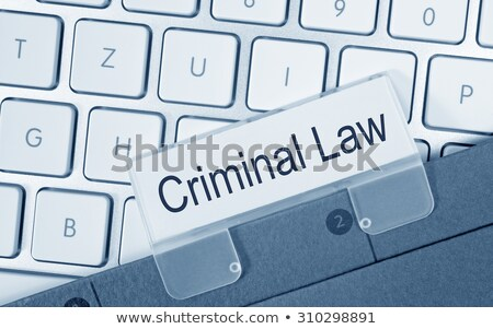Blue folder with the label Criminal Law Stock photo © Zerbor