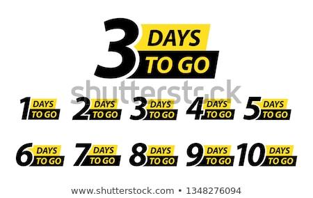 Três banners relógio bandeira ouro jóias Foto stock © blackmoon979