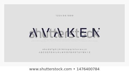 abstract creative dots logo letter i stock photo © sarts