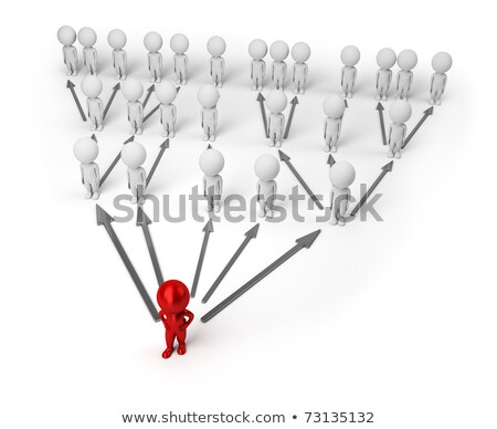 Stock photo: 3d small people - pyramid chart