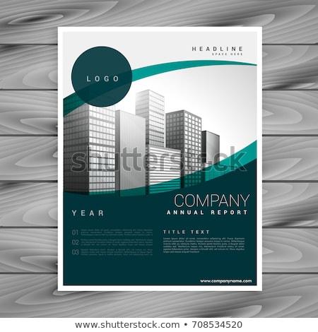 Сток-фото: бизнеса · брошюра · листовка · шаблон · марка · компания