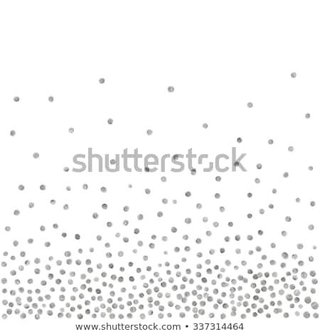 Random Falling Silver Dots Background stock photo © creativika