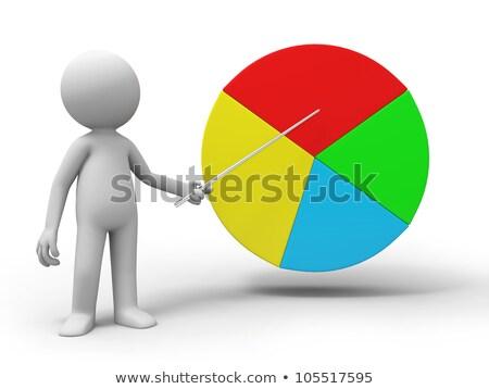 3d ember bemutat magyaráz kördiagram 3D renderelt kép Stock fotó © nasirkhan