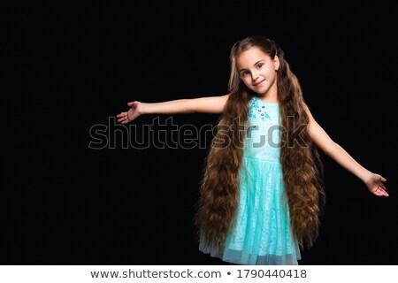 Closeup of pretty cute little girl with long hair Stock photo © deandrobot