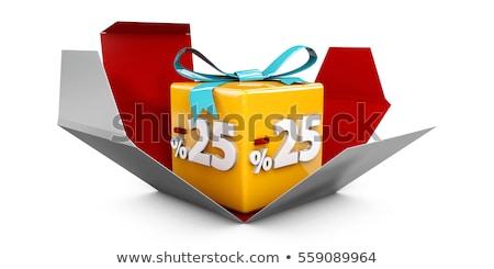 25 · percentagem · taxa · ícone · branco · vinte - foto stock © tussik