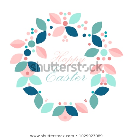 beautiful happy easter background with celebration garlands Stock photo © SArts
