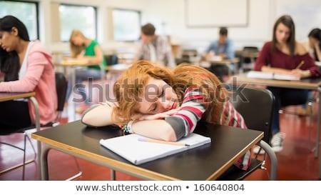 uyku · kız · karakter · yalıtılmış · örnek - stok fotoğraf © rastudio