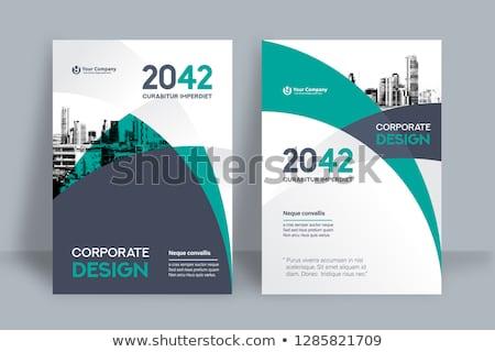 Moderne vector verslag ontwerpsjabloon groot Stockfoto © orson