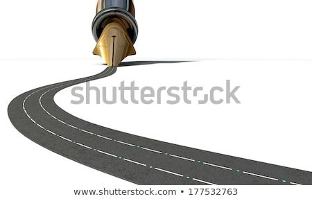 infrastruktúra · toll · út · makró · kilátás · közelkép - stock fotó © albund