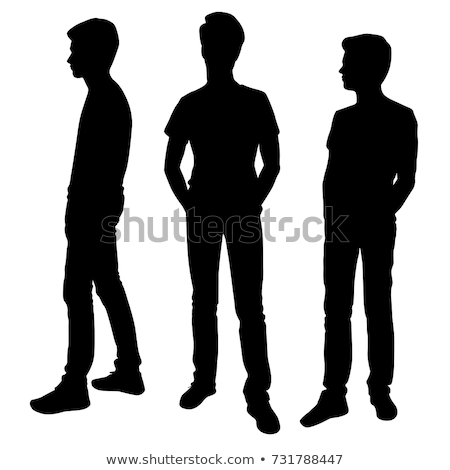 businessman boy silhouette in Standing pose Stock photo © Istanbul2009