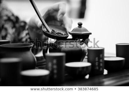 Japán tea szertartás illusztráció férfi természet Stock fotó © adrenalina