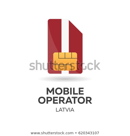 Latvia mobile operator. SIM card with flag. Vector illustration. Stock photo © Leo_Edition