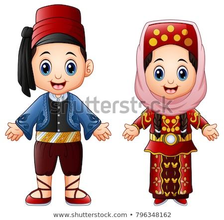 トルコ語 少年 少女 伝統的な 衣装 実例 ストックフォト © bluering