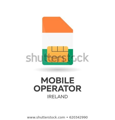 Mobiles opérateur carte pavillon résumé design Photo stock © Leo_Edition