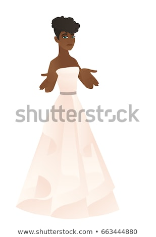 Confused fiancee shrugging shoulders. Stock photo © RAStudio