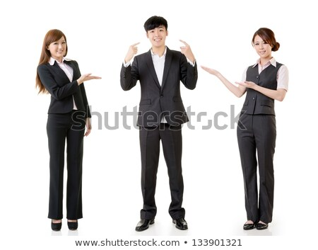 Asian Man Instructing Woman Working Out, Isolated Stock photo © Qingwa