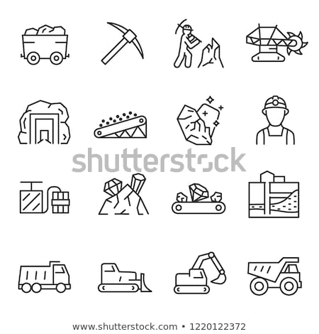 Black mining line icon. stock photo © RAStudio