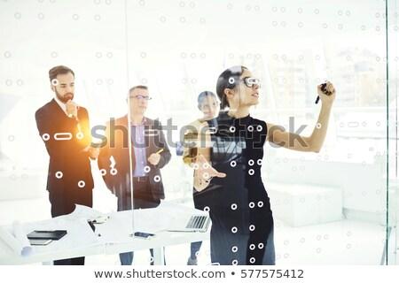 Talento sviluppo moderno laptop schermo diverso Foto d'archivio © tashatuvango