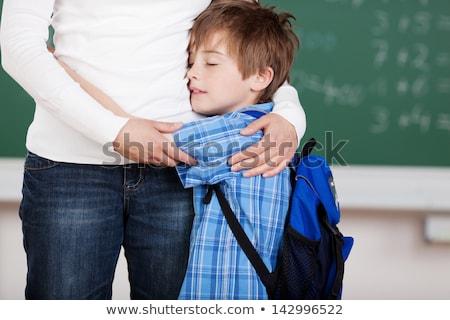School boy hugging mother Stock photo © IS2