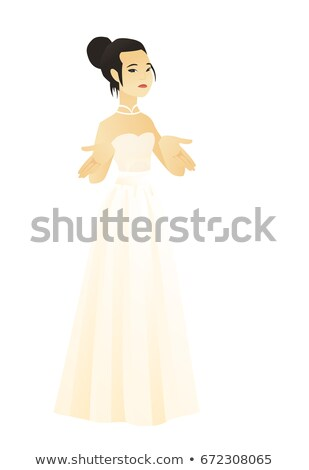 Jonge asian verloofde schouders verward twijfelachtig Stockfoto © RAStudio