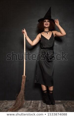 恐ろしい · 魔女 · 肖像 · 少女 · ハロウィン · 衣装 - ストックフォト © deandrobot