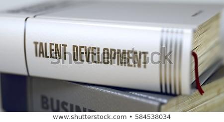 libro · titolo · colonna · vertebrale · primo · piano · view - foto d'archivio © tashatuvango