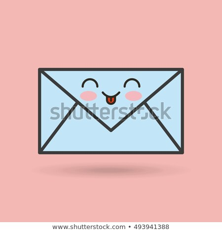 Carta mail dotación cute cara sonriente carácter Foto stock © rogistok
