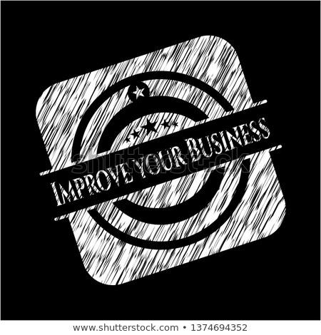 Plan estratégico garabato verde texto negocios boceto Foto stock © tashatuvango