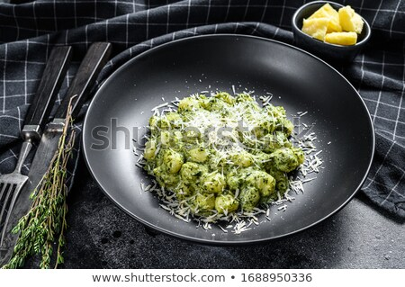 étel spenót előkészítés labda friss senki Stock fotó © IS2