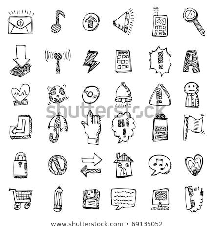 Lock shaped heart sketch icon. Stock photo © RAStudio